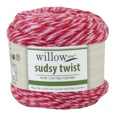Willow Yarns™ Sudsy Twist Yarn-Expand the versatility of Willow Sudsy with light accents adding more flavor to all your everyday accessories. Like the other Sudsy yarns, Sudsy Twist's cotton/polyester blend keeps its colors wash after wash and is soft on your hands as you work with it.