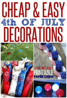 Plan the perfect Fourth of July bash with these cheap and easy DIY party decorations!