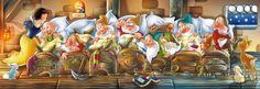 Clementoni Puzzle 1000 Teile Disney: Schneewittchen (39004) Sieben Zwerge in Spielzeug, Puzzles & Geduldspiele, Puzzles | eBay