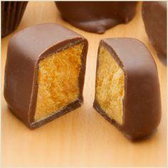 Orange Chocolate Sponge Candy