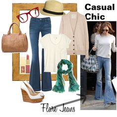 Casual Chic - Flare Jeans, created by #betabaggio