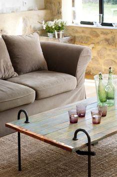 Tutoriel table basse avec volet et serre joint en fonte (traitement de la fonte avec une crème spéciale ferronerie)