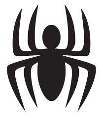 Spiderman Symbol for cupcake topper