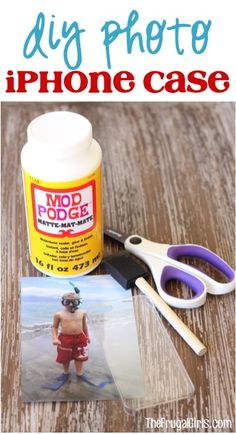 DIY iPhone Photo Case - from TheFrugalGirls.com