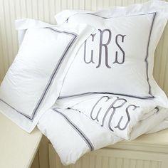 Master Bedding Idea Amelie Embroidered Bedding - Lavender