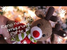 RENO NAVIDEÑO AMIGURUMI. PARTE 2 - YouTube Amigurumi Doll, Crochet Hats, Christmas Ornaments, Halloween, Holiday Decor, Crafts, Youtube, U2, Home Decor