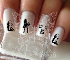 Marilyn monroe Nail Art Nail water decals transfers