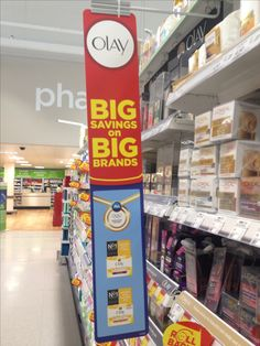 Worldwide Olympic partner P&G represented by Olay in Asda amongst other brands