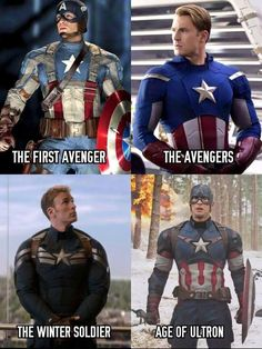 Evolution of the CAPTAIN AMERICA suit