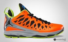 Chris Paul New Shoes Orange,yellow,and blue