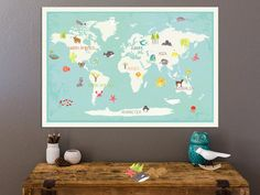 Our Earth Interactive World Map Wall Art With by ChildrenInspire