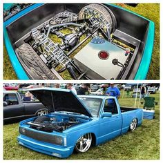 Chevy S10 #bagged cantilever #bodydropped