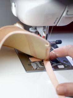 Foam cup bra: How to attach elastic to foam