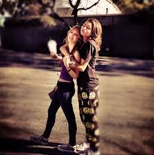 Zendaya and Bella Thorne! Me and my best friend are like this ⬆️  @BellaThornelover Mirzayan