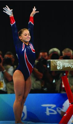 Landing her gold medal beam routine <3
