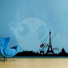 With this City Of Paris Wall Sticker Decal you can decorate your walls in one of the most modern and elegant ways