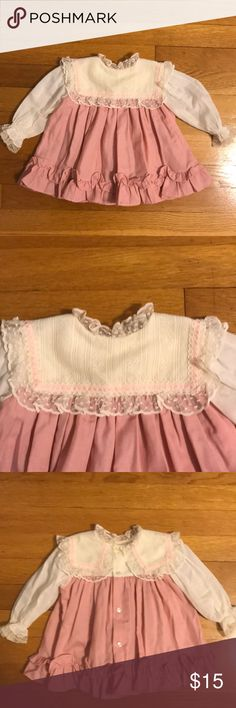 Vintage girls 12 months dress w lace collar Vintage girls 12 months dress w lace collar. I'm very good condition Vintage Dresses