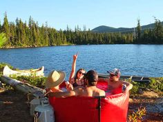 A portable hot tub.