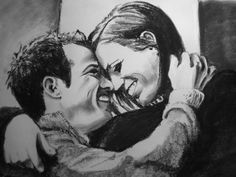 Moe & Joe--charcoal on drawing paper  By Amber D'Angelo