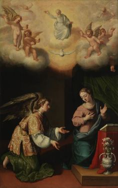 La Anunciación / The Annunciation// 1603// Juan Pantoja de la Cruz // #VirginMary #ArchangelGabriel