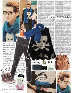 """""""Happy Birthday Wufan!"""" by hellounicorn ❤ liked on Polyvore"""