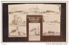 RP, 7-Views, Greetings From Esbon, Kansas, PU-1912 - Delcampe.com