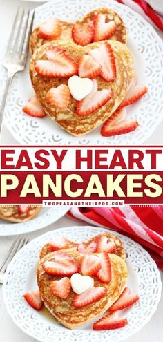 Heart Pancakes is Valentine's day breakfast idea filled with love! These easy, whole wheat heart-shaped pancakes are the perfect pancakes for Valentine's Day or any day! They are light, fluffy, simple… More