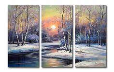 Painting Snow Scenes in Acrylics | Acrylics - ORIGINAL MODERN LANDSCAPE ACRYLIC PAINTING SNOW SCENE 120 X ...
