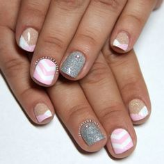 Nail Designs With White And Silver - http://www.mycutenails.xyz/nail-designs-with-white-and-silver.html