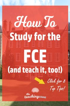 Want to pass the FCE exam (Cambridge First Certificate exam)? Need help teaching the FCE or helping your students understand the most complex parts of English reading, writing, listening or speaking? Click the pin to check out today's post for 8 top tips! Remember to sign up for the free printables library to get weekly Motivational Monday posters and month printables packages- free! www.teachingcove.com