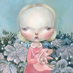 PORCELLINA, Dilka Bear (aka Dilkabear) was born in Alma-Ata, Kazakhstan (USSR) in 1977; lives and work in Triste, Italy