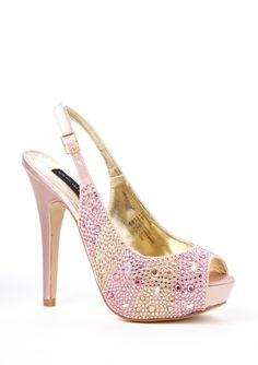 Steve Madden heels. Modern peep-toe slingback riff off a princess shoe. Cinderella better get in line for this sparkly pink beauty because I have dibs.
