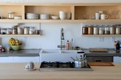 Source: 10 Favorites: Rustic Open Shelving in the Kitchen (via Remodelista)