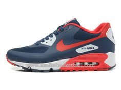 new concept f1c07 ce4d7 Nike Air Max 90 Hyperfuse QS Independence Day Chaussures De Basket Pour  Homme Bleu Rouge Blanc