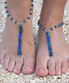Royal Blue Azul Dream Barefoot Sandal