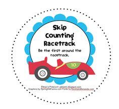 Skip Counting Racetrack -- Freebie!