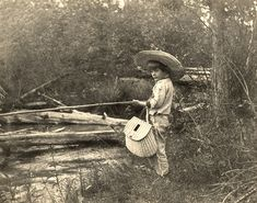 Young Ernest Hemingway fishing in Horton's Creek, near Walloon Lake, Michigan by UpNorth Memories - Donald (Don) Harrison, via Flickr