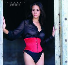 a8c5059fc9 Passion Underbust Corset in Red Satin By Vollers Corsets Underbust Corset
