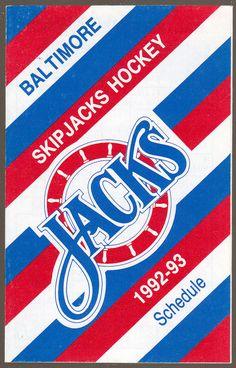 1992-93 BALTIMORE SKIPJACKS JUNIOR PRESS HOCKEY POCKET SCHEDULE FREE SHIPPING #SCHEDULE