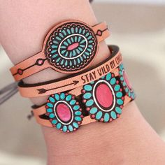 You're never too young to go boho, as these all-ages–appropriate leather bracelets from Etsy seller GoWildBoutique prove. Discover more stylish finds for pint-sized fashionistas on Etsy's curated page of unique gifts for kids, here. #etsygifts