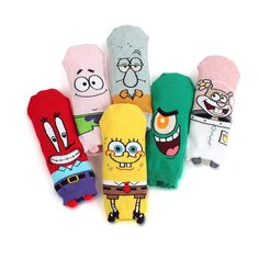 Price:US $15.90 (6-pack) & [Free shipping] #Sponge #Bob #Original #Socks #Patrick #Krabs #Squidward #fashion #nickelodeon #funny #crazy