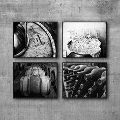 Vino blanco y negro imprime, fotos vinos, comedor pared arte, regalo de anfitriona de BW, arte de cocina fotografía vino Set de cuatro 4 fotos