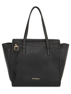 MEDIUM AMY GRAINED LEATHER TOTE BAG