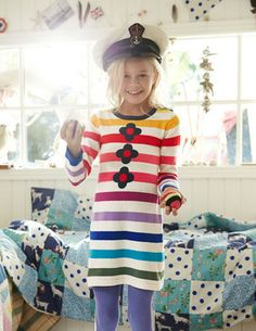 I love this little Boden dress… Too bad it's not a washing machine-friendly fiber. :(