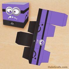 Anti - Minions: Free Printable Cube Box.