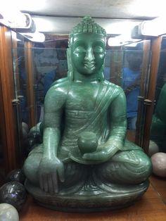 87 kilo Biggest Antique Natural Indian Jade Buddha Statue ~Super Fine Collection