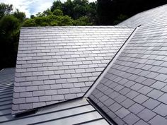 Metal slate roofing for a cleaner look