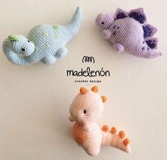 crochet dinosaur patterns My Jurassic World Amigurumi Pattern Crochet Dinosaur Patterns, Crochet Amigurumi Free Patterns, Crochet Dolls, Crochet Yarn, Crotchet, Kawaii Crochet, Cute Crochet, Crochet Crafts, Crochet Projects
