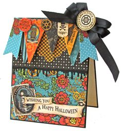 Love this Steampunk Spells card by Gloria showing off how to use our cardstock banners! #graphic45 #cards