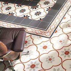 Carreaux ciment - MAINZU série new origins choix Mainzu Ceramica, Shower Enclosure, Apartment Kitchen, Beautiful Patterns, Kitchen Remodel, Tiles, Kids Rugs, Decoration, Flooring
